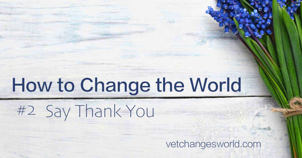 Change the World - Say Thank You